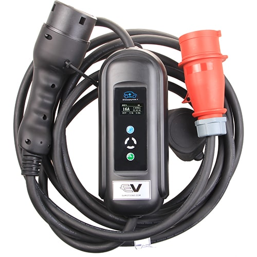 1-EV EVSE Type2 (3x16A) IP55 Mobiele lader